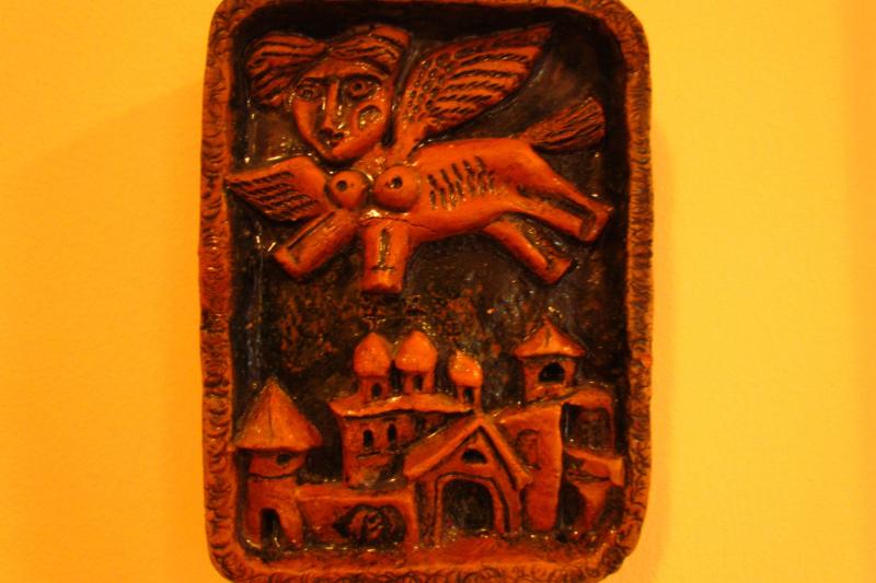 Valentin Vasilyevich Demyanenko. Ceramic relief