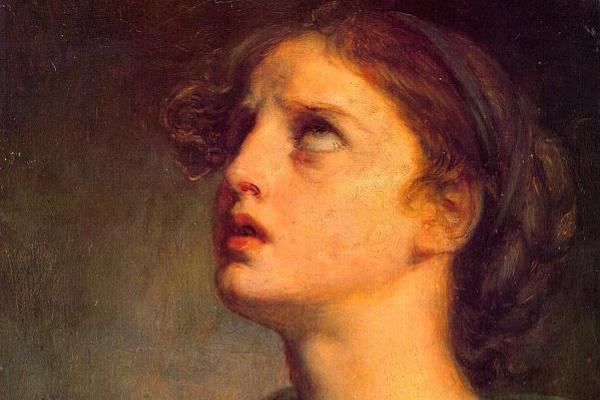 Jean-Baptiste Dreams. Head of a young girl