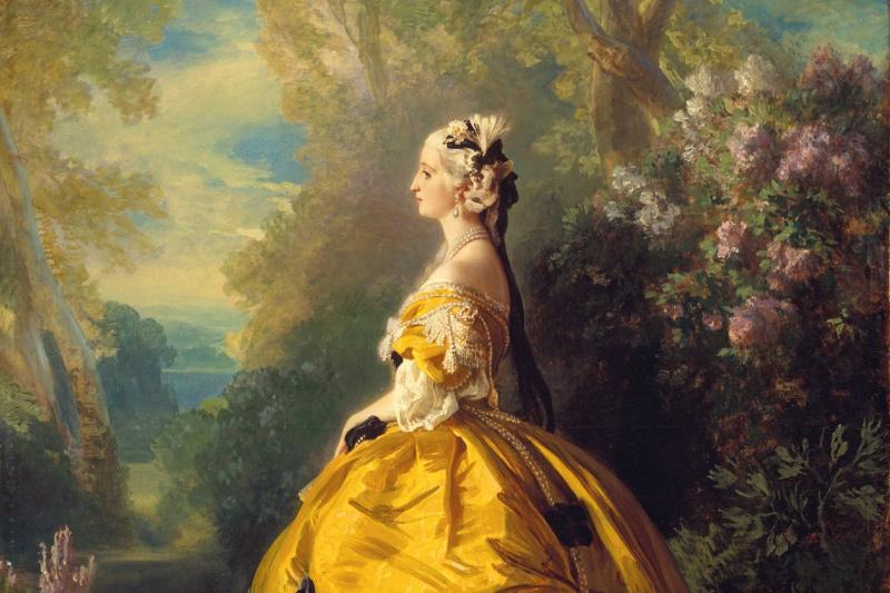 Franz Xaver Winterhalter. Empress Eugenie (Eugenie de Montijo) in the dress of the XVIII century