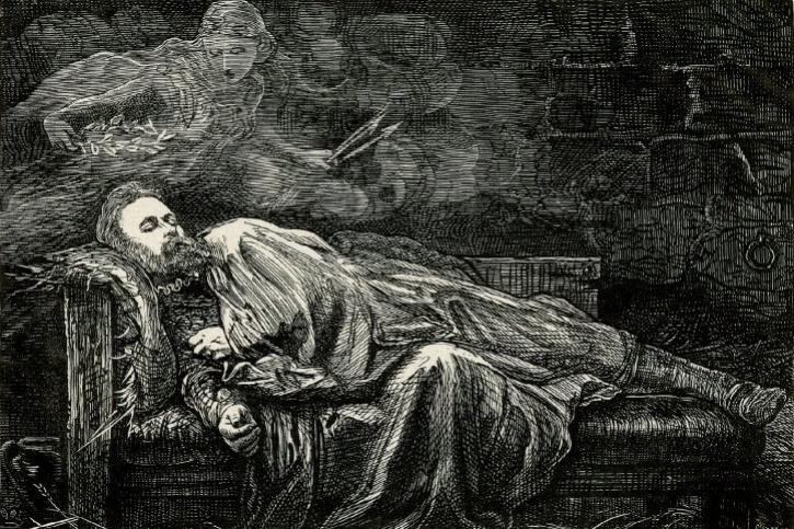 "John Everett Millais. Vision sleeping. Illustration to Goethe's tragedy ""Egmont"""
