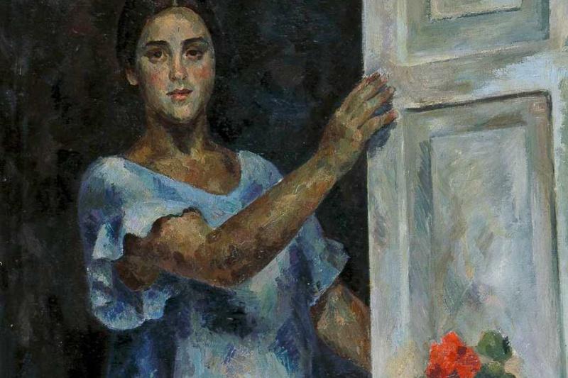 Robert Rafailovich Falk. The girl at the window (Raisa Idelson)