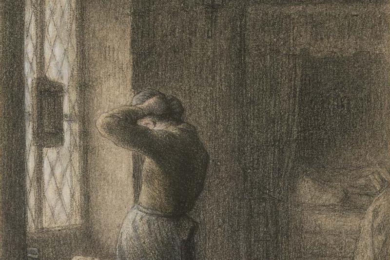 Jean-François Millet. For the morning toilet