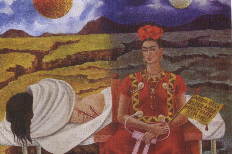 Frida Kahlo. Tree of hope, stand up straight!