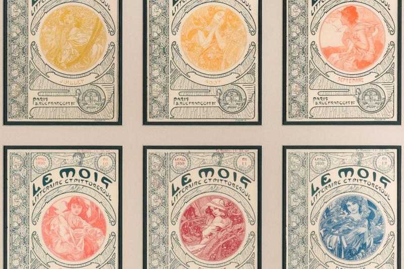 "Alphonse Mucha. Illustrations for the magazine ""Month"""
