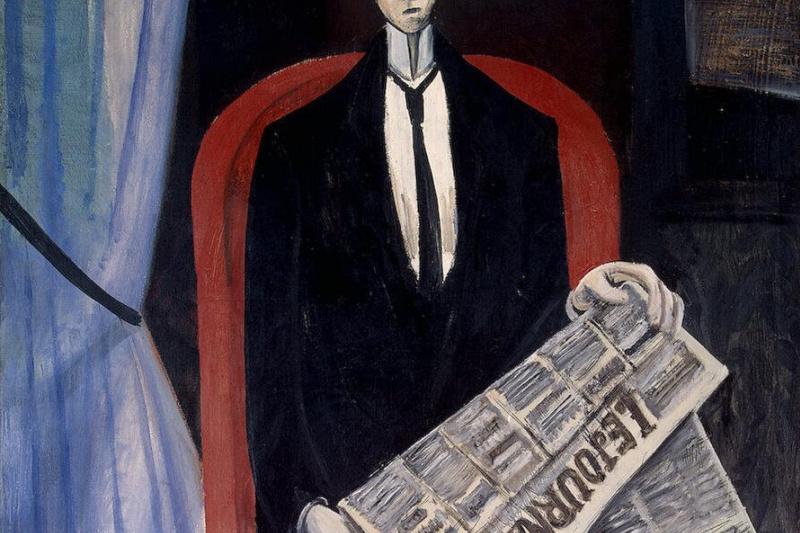 Андре Дерен. Портрет мужчины с газетой