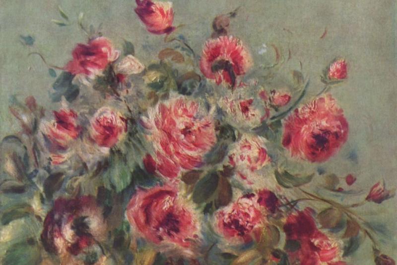 Pierre-Auguste Renoir. Still life. Rose of Vagamon