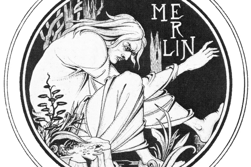 Aubrey Beardsley. Merlin