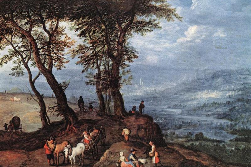 Jan Bruegel The Elder. On the way to market