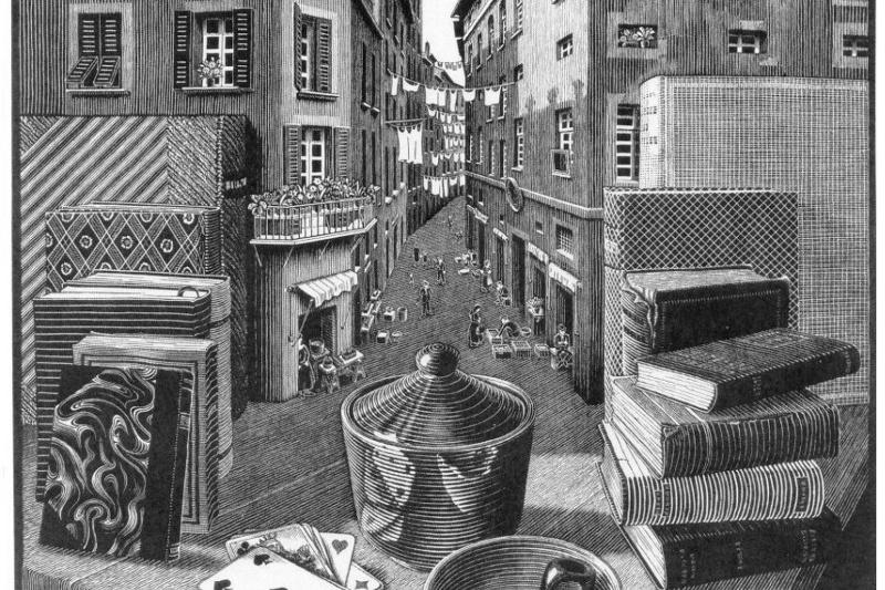 Maurits Cornelis Escher. Still Life and Street