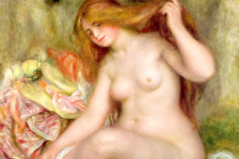 Pierre-Auguste Renoir. Sitting bather