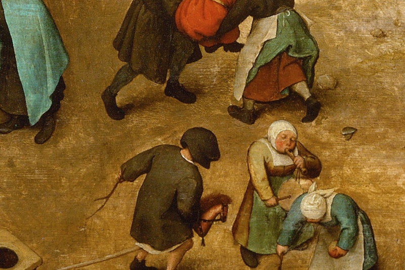 Pieter Bruegel The Elder. Children's games. Fragment 5