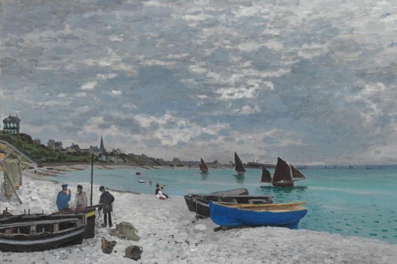 Клод Моне. Пляж в Сент-Адрессе