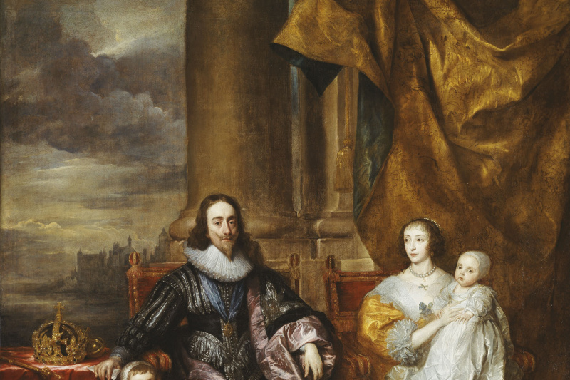 Anthony van Dyck. Karl I and Henrietta Maria with two older children, Prince Charles and Princess Maria