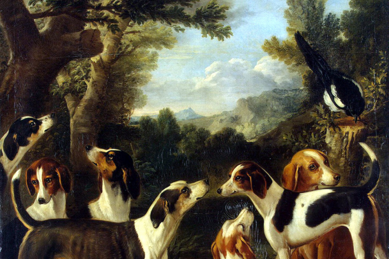 John Wootton. Dogs and forty