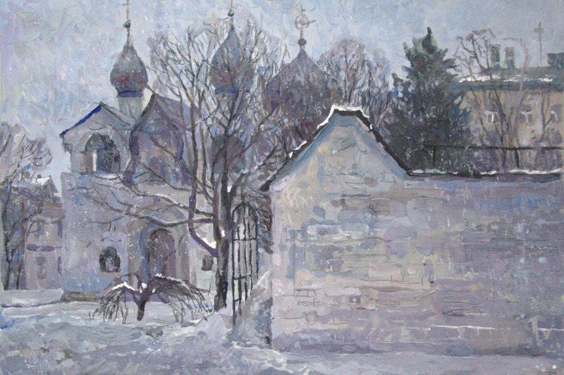 Oleg Borisovich Zakharov. The first day of spring 2019. (Marfo-Mariinsky Convent. Intercession Church.)