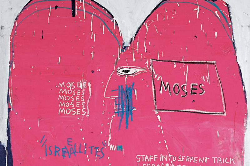 Jean-Michel Basquiat. Moses and the Egyptians