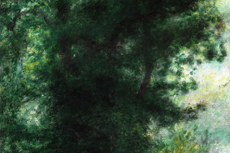 Pierre-Auguste Renoir. Fence in the forest