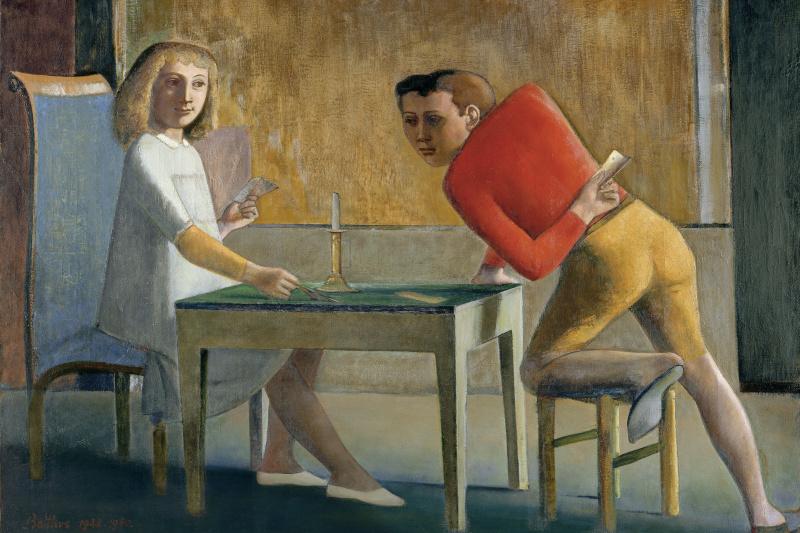 Balthus (Balthasar Klossovsky de Rola). La Partie De Cartes