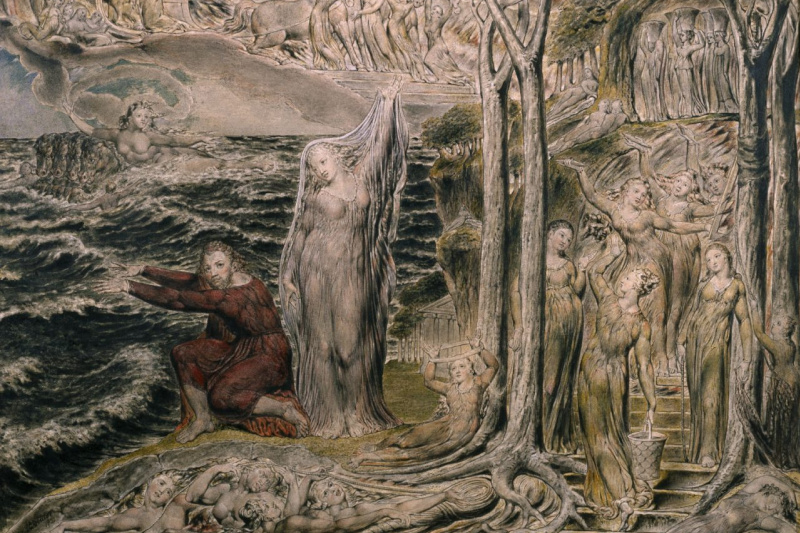 William Blake. The Sea of Time and Space (Vision of the Circle of the Life of Man)