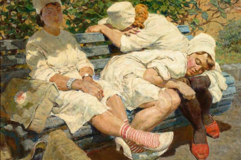 "Leo Serafimovich Kotlyarov. ""Nurses. Rest after duty"