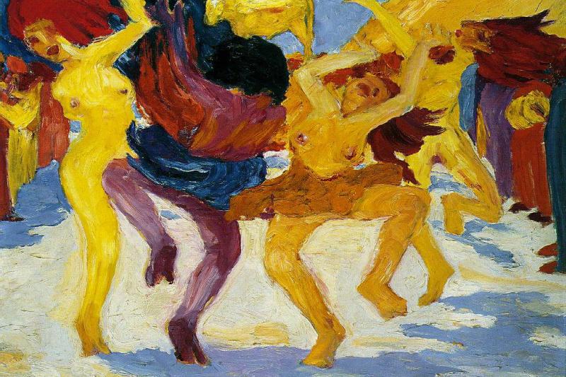 Emil Nolde. The dance around the Golden calf