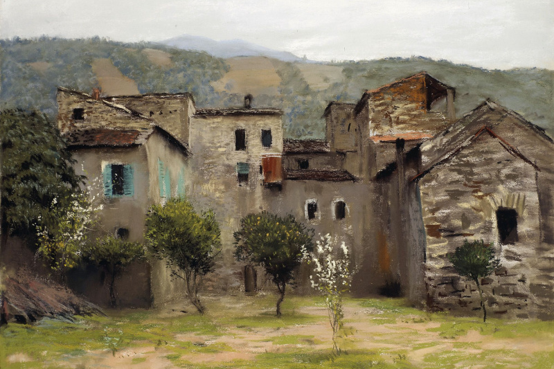 Isaac Levitan. Near Bordighera. In the North of Italy. A variant of the same pattern, 1890