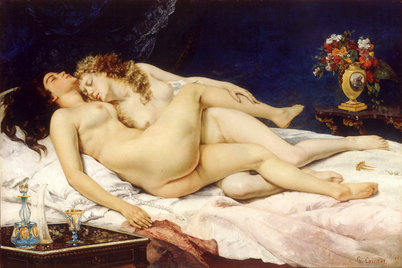 Gustave Courbet. Sleeping