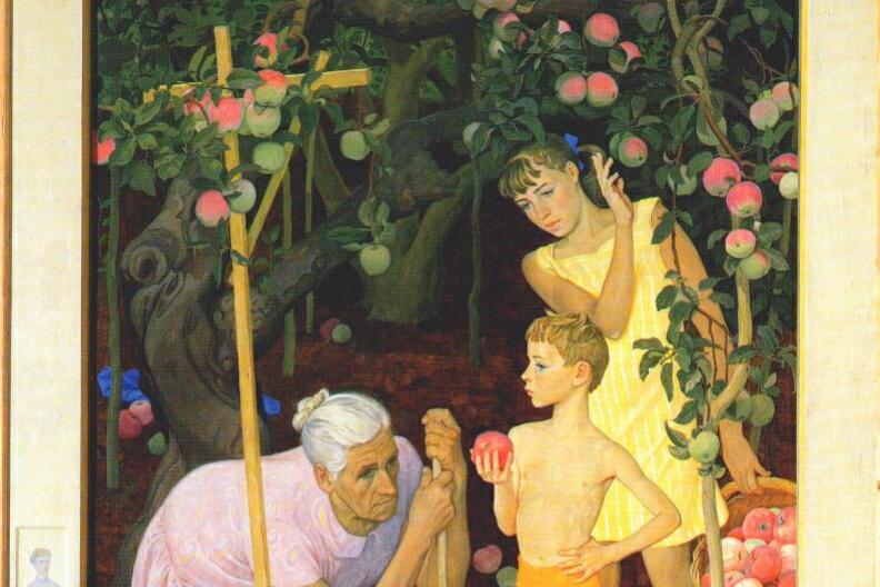 Дмитрий Дмитриевич Жилинский. Под старой яблоней