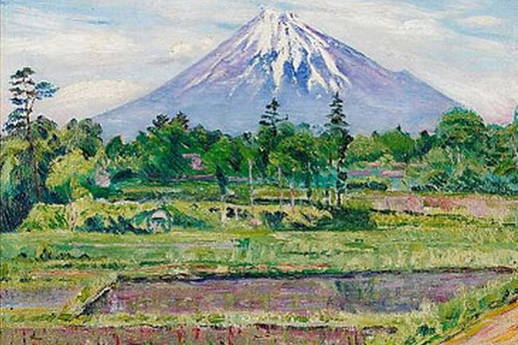 David Davidovich Burliuk. Mount Fuji, Japan
