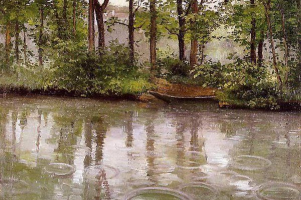Gustave Caillebotte. Yerres. The rain effect