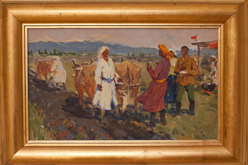 Willy Leopoldovich Mokrozhitsky. Sowing in Kyrgizia