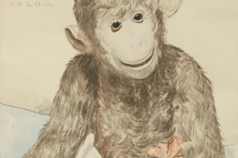 Boris Mikhailovich Kustodiev. Toy monkey