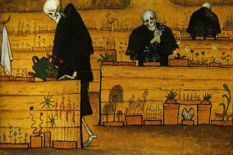 Hugo Simberg. The garden of death