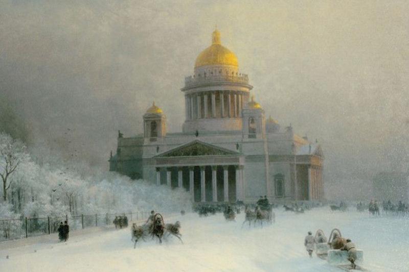 Иван Константинович Айвазовский. Исаакиевский собор в морозный день