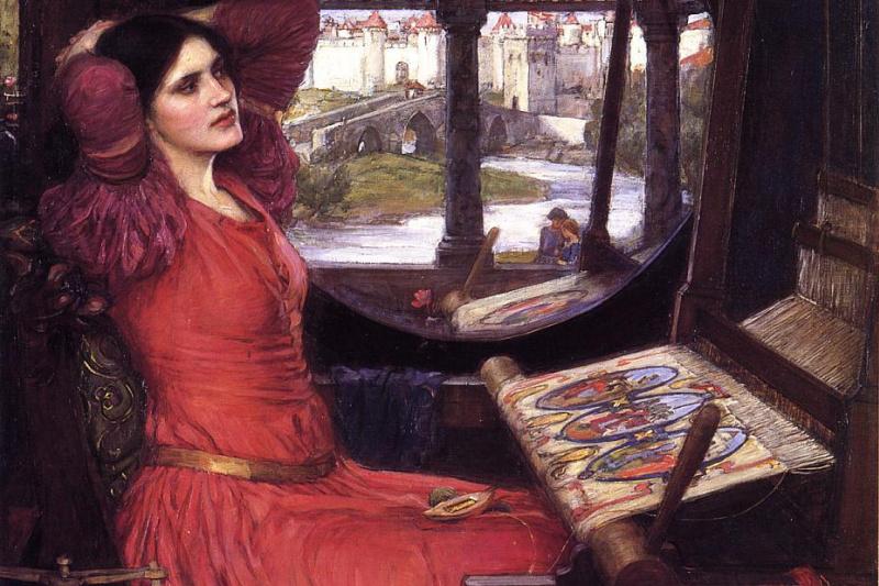 "John William Waterhouse. Lady Of Shallotte. ""I was chasing shadows"""