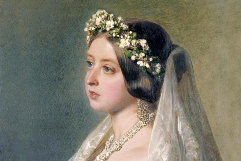 Franz Xaver Winterhalter. Queen Victoria's wedding dress