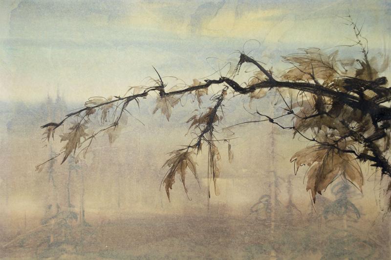 """Victor Alexeyevich Asadchikov. """"Maple branch"""""""