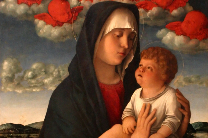 Джованни Беллини. Мадонна с красными херувимами