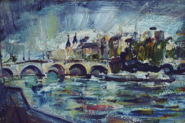 Nikolay Vasilyevich Maksimychev. Paris. Etude