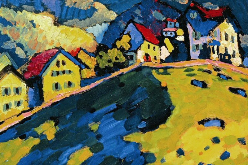 Wassily Kandinsky. House in Murnau