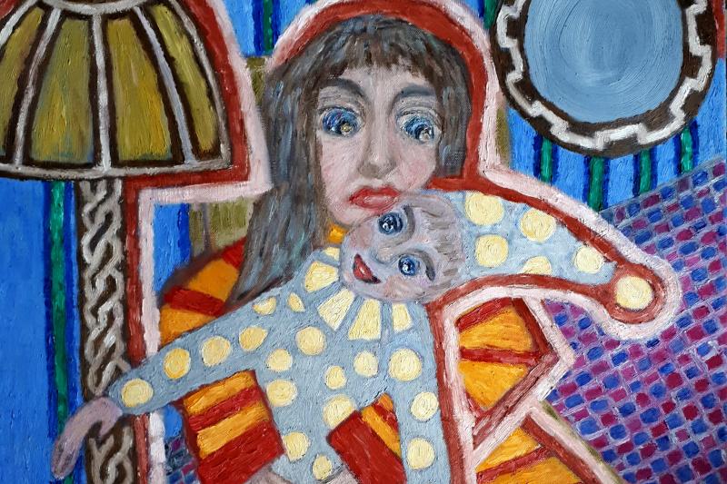 "Tatyana Turanova. Oil painting ""Nice, old, stupid bobblehead ..."""