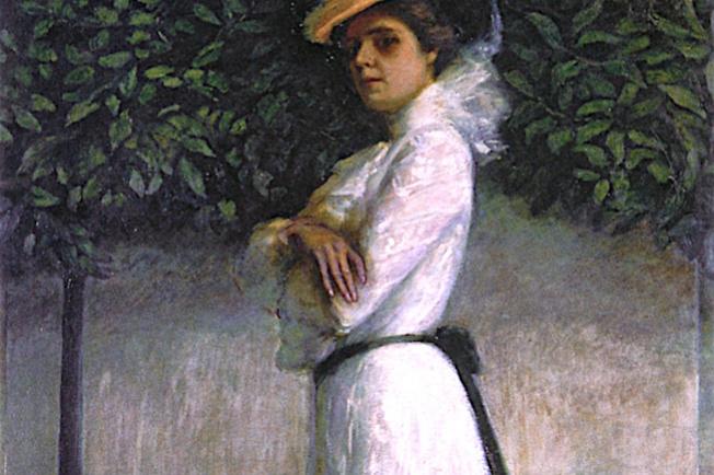 Florina Stettheimer. A portrait of my sister Carrie W. Stettheimer in a white dress