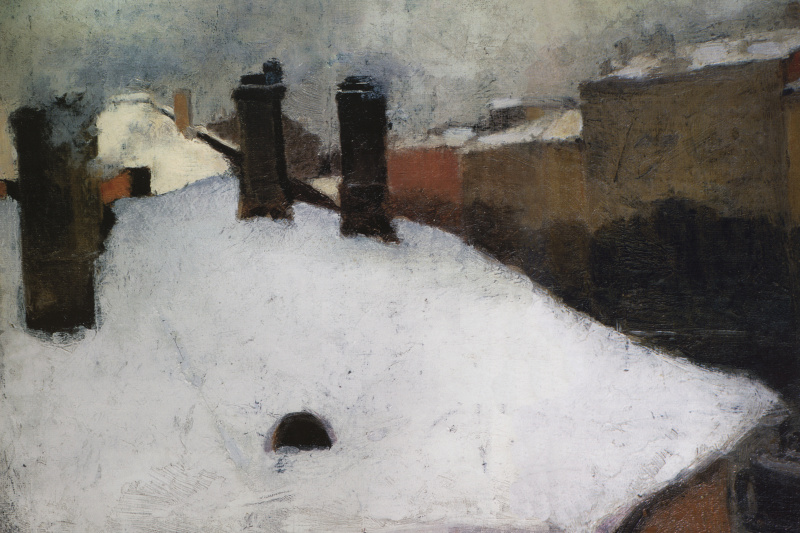 Igor Grabar. Roofs under the snow