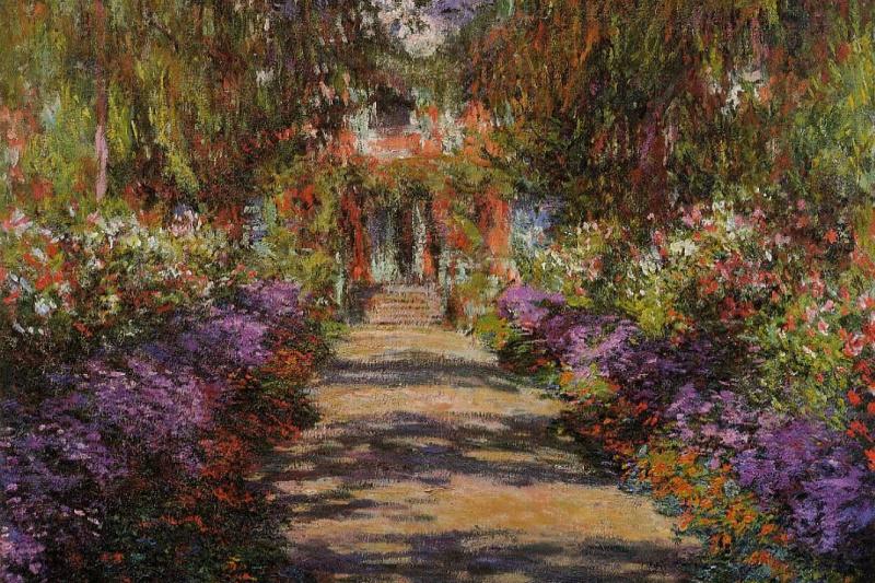Claude Monet. Garden path