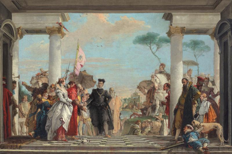 Giovanni Battista Tiepolo. The arrival of Henry III at the Villa Contarini