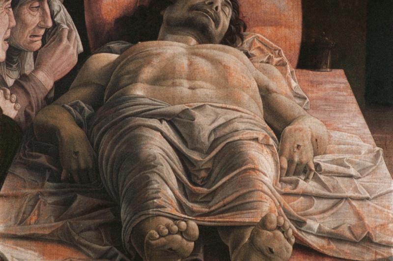 Andrea Mantegna. Dead Christ (lamentation over the dead Christ)