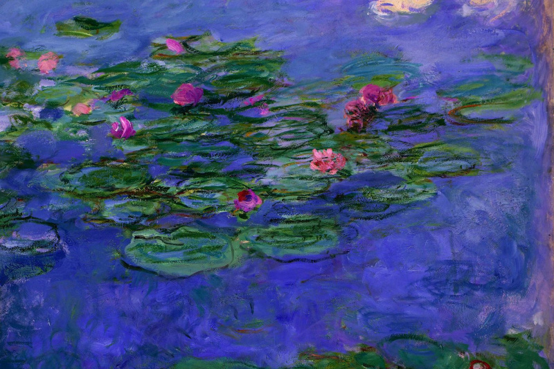 Claude Monet. Red water lilies