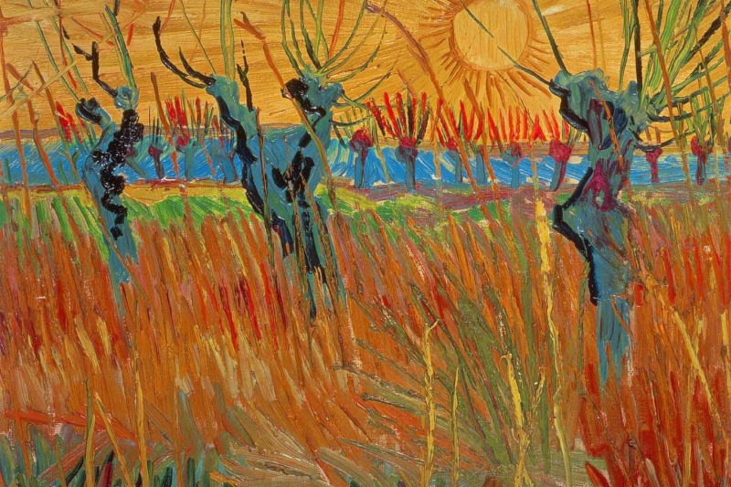 Vincent van Gogh. Pollard willows at sunset