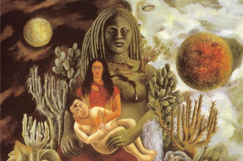 Frida Kahlo. Hug the Universe, the earth (Mexico), Me, Diego and Señor Xolotl