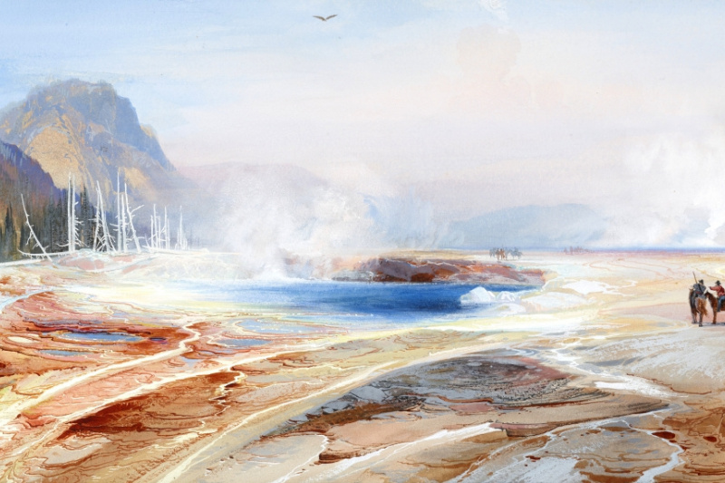 Thomas Moran. Big springs in Yellowstone Park